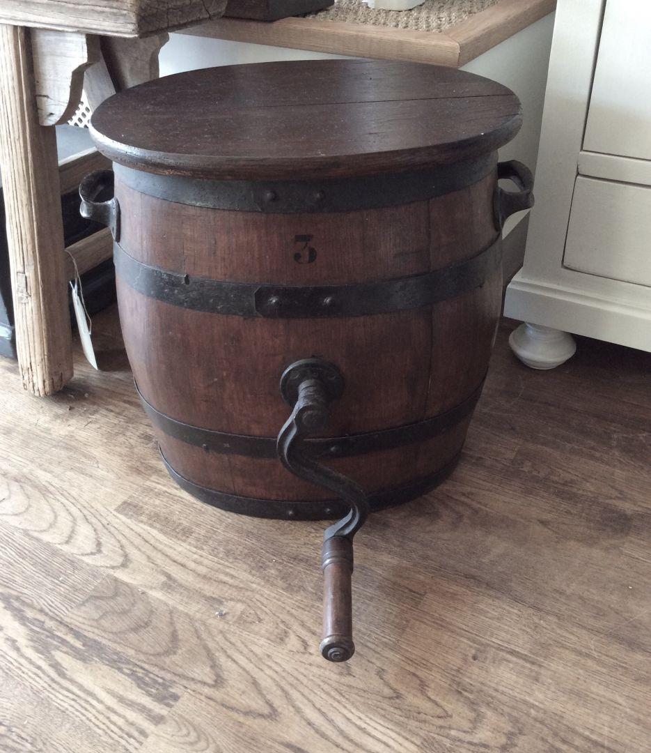 Hand Painted Furniture Decorative Antique Vintage For Sale Old Butter Churn Pepperbox