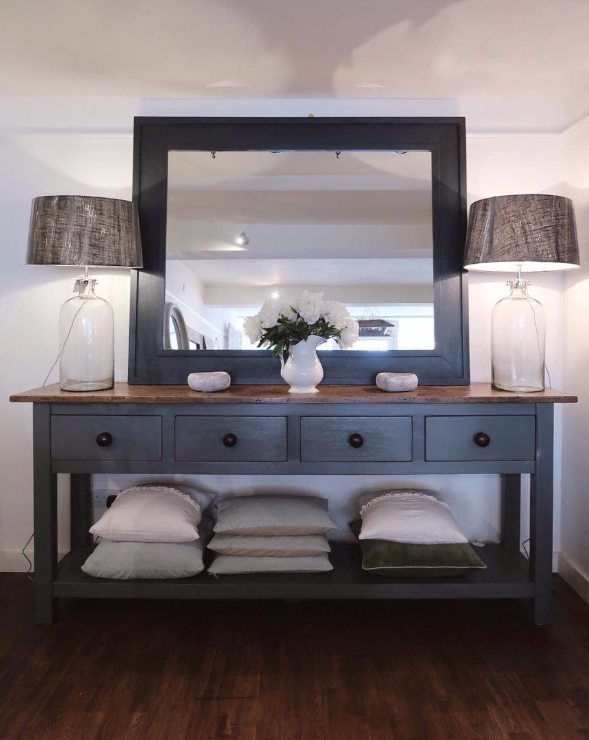 Bespoke Farmhouse Console Table, Painted Living Room Furniture