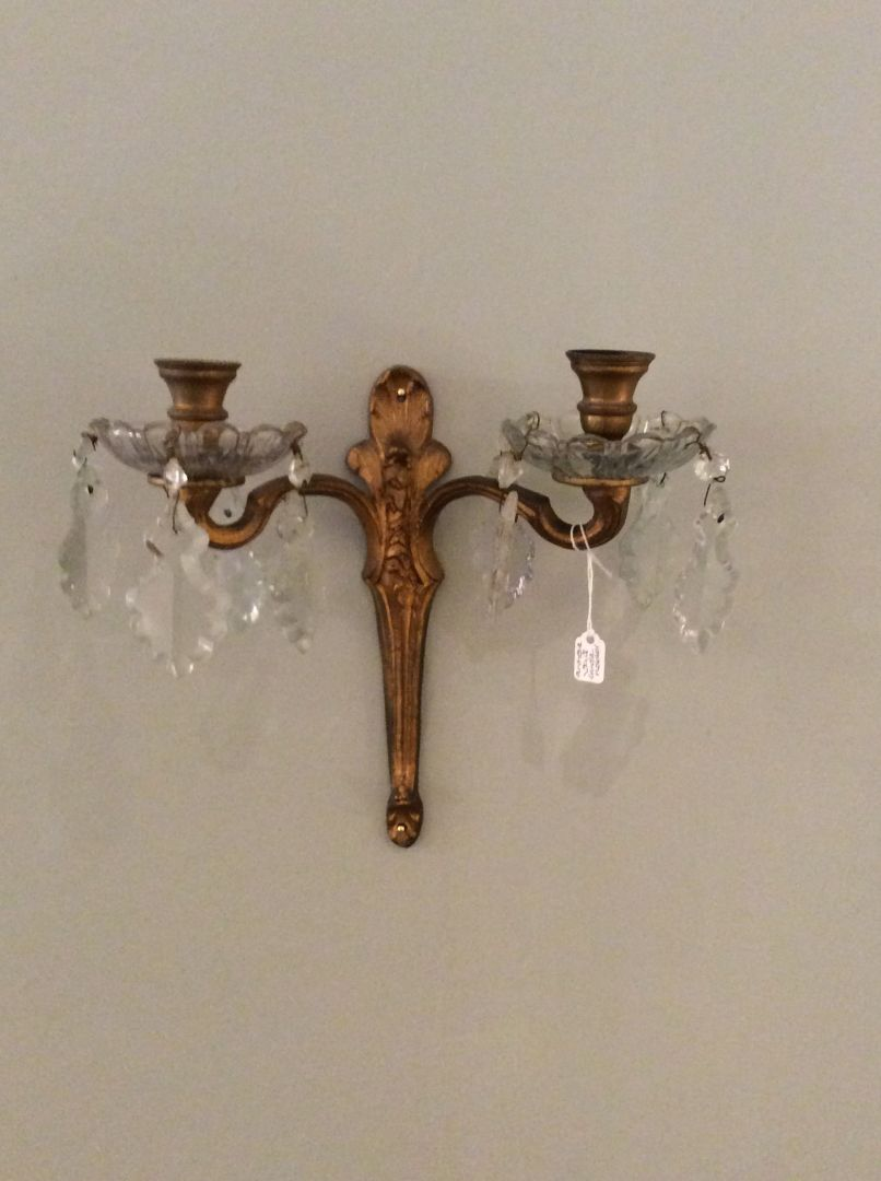 Candle Wall Sconces Vintage : Hand Painted Furniture - Decorative Antique & Vintage For Sale - Vintage Antique Wall Candle ...