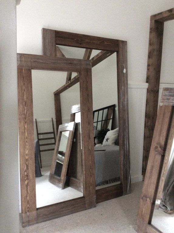 Reclaimed Old Floor Board Mirrors