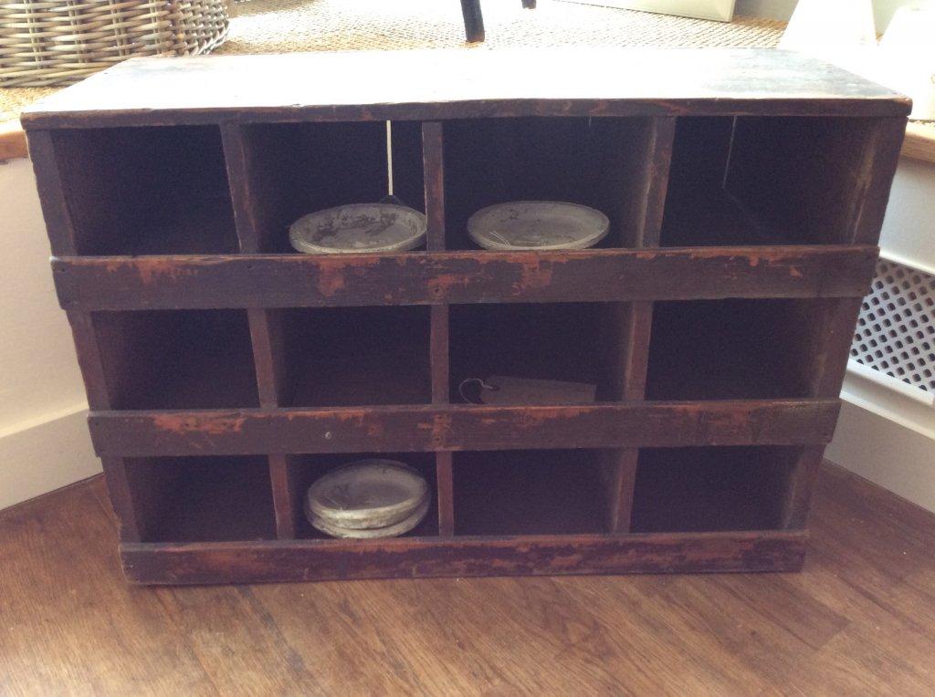 hand painted furniture decorative antique vintage for sale old pigeon holes pepperbox. Black Bedroom Furniture Sets. Home Design Ideas