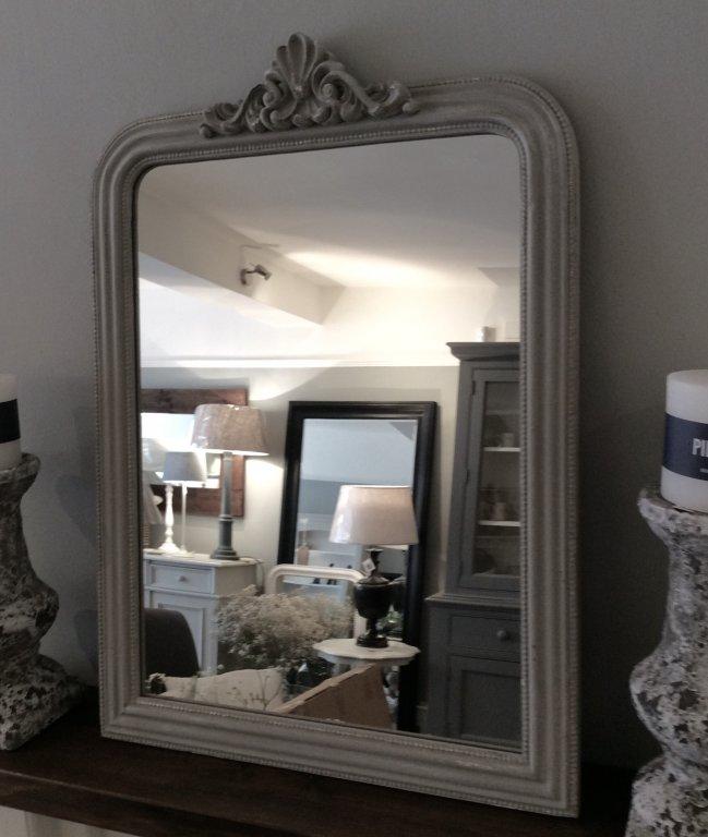 Louis XVI Style Antique Grey Mirror