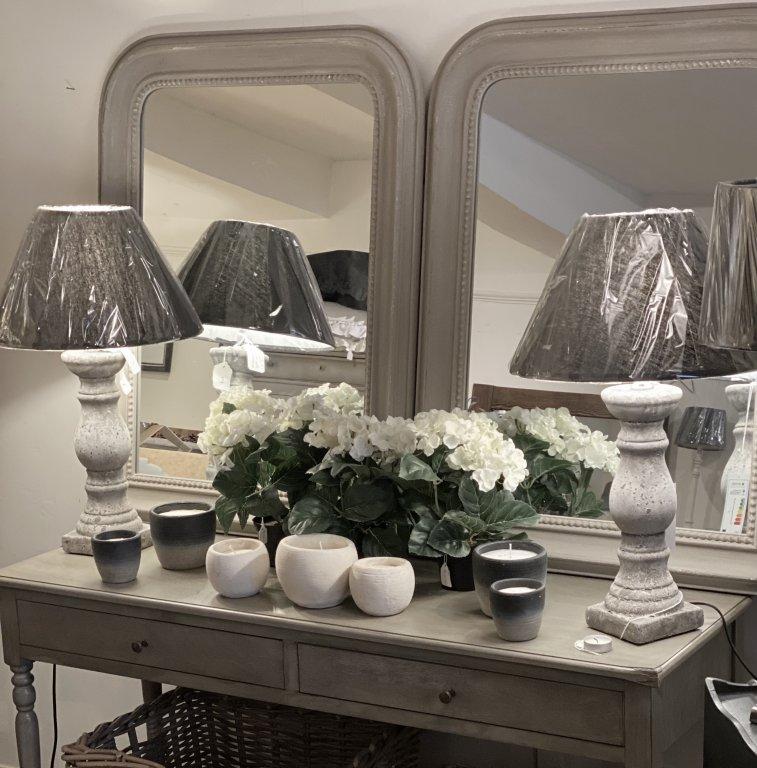 Beaded Grey Mirror