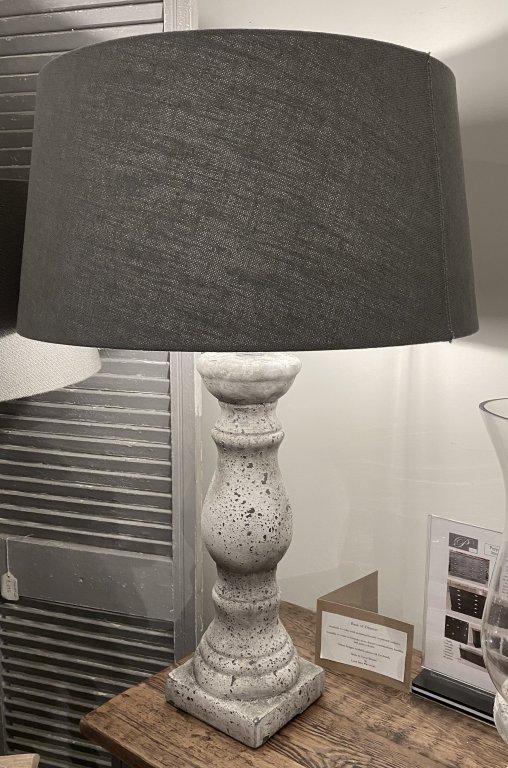 Large Stone Balustrade Lamp Base