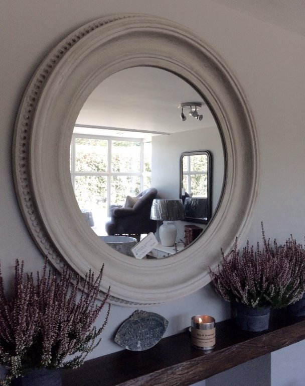 Gorgeous Beaded Circular Mirror