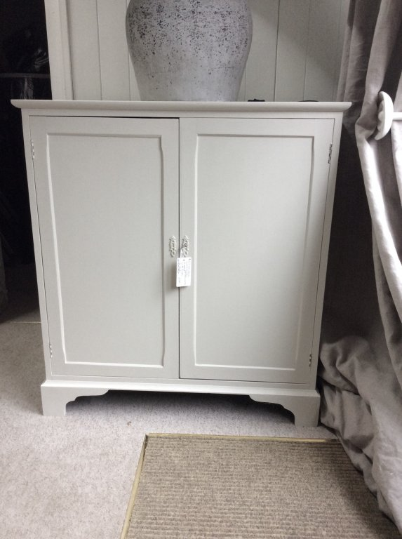 Deep Double Cupboard In Farrow & Ball Shaded White