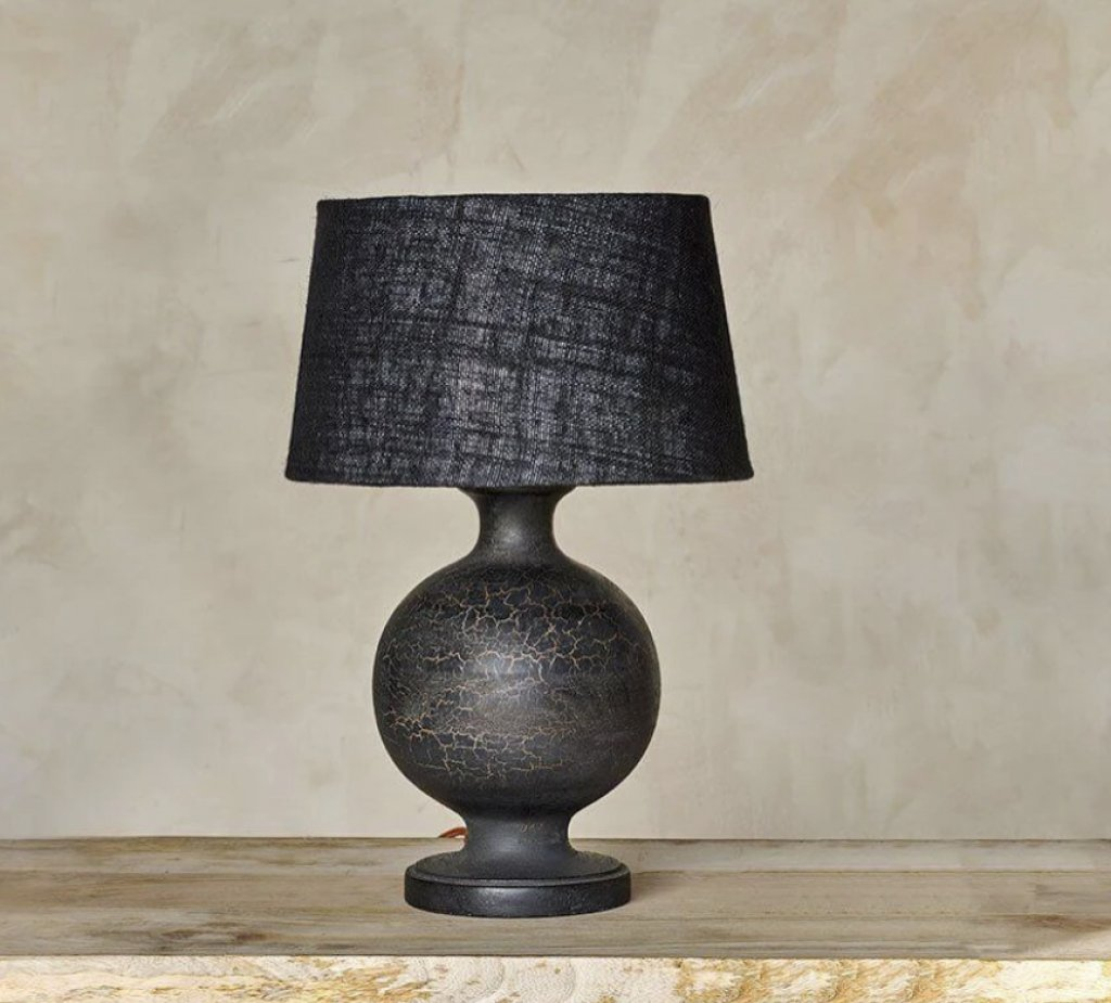 Round Crackle Glazed Lamp