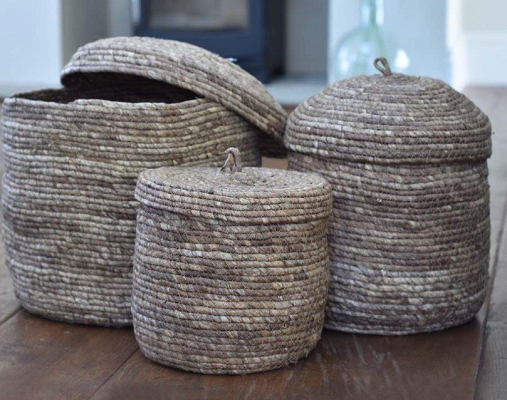 Corn Lidded Baskets