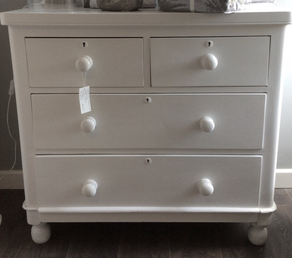 Hand Painted Victorian Chest Of Drawers