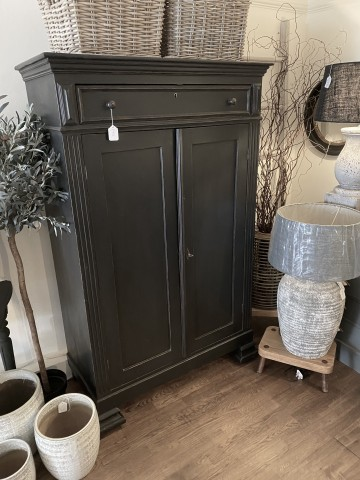 Original French Double Cupboard With Drawer Above - [COPY]