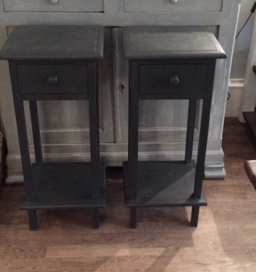 Pair Of Tall Side Tables / Bedsides