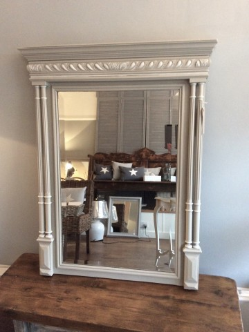 Beautiful Original French Column Mirror