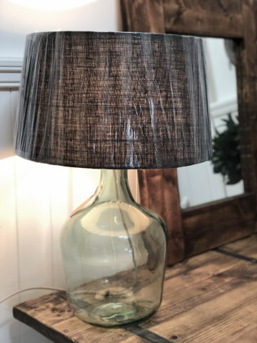 Recycled Glass Lamp Base And Shade