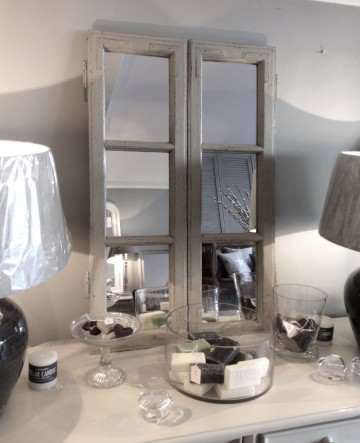 French Mirrored Window Frame