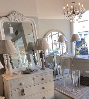 Arched Window Paned Mirror