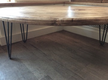 Reclaimed Wood Low Oval Table
