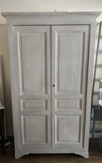 French Tall Shelved Double Cupboard