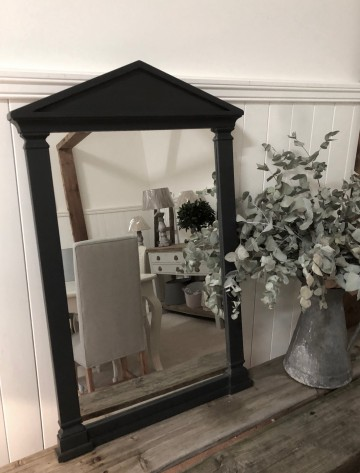 Hand Painted Column Style Mirror
