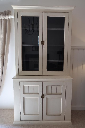 French Painted Glazed Cupboard