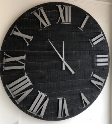 Large Rustic Wood Clock