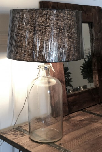 Clear Glass Lamp Base And Shade