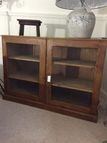 Old Pine Double Cupboard