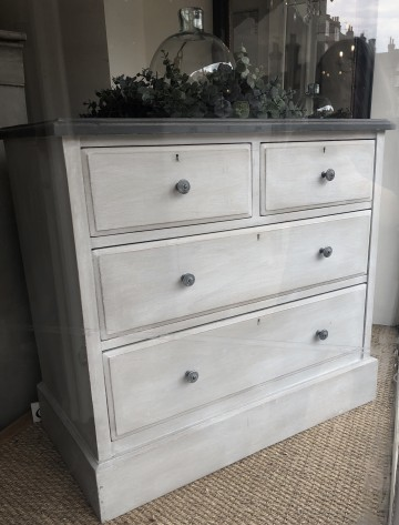 Vintage English Hand Painted Chest Of Drawers