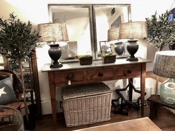 Zinc Topped Console Table