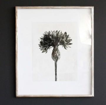 Sepia Floral Print I
