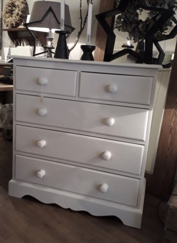Hand Painted Pine Chest Of Drawers