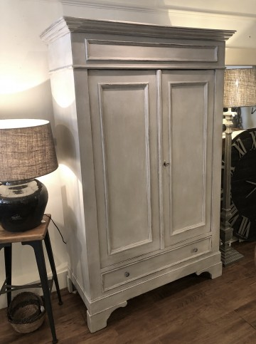 French Shelved Double Cupboard With Drawer