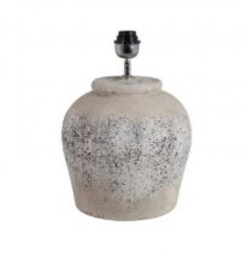 CERAMIC RUSTIC ANTIQUE GREY LAMP BASE