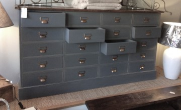Large Painted Apothecary Set Of Drawers