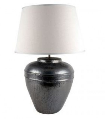 Meteor Large Rustic Dark Grey Lamp Base