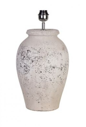 Tall Ceramic Grey Lamp Base